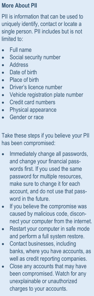 about pii